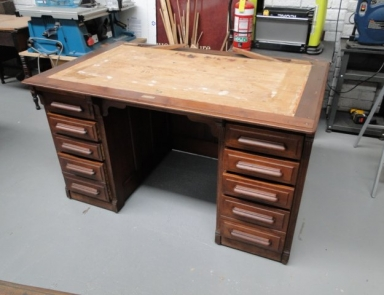 Walnut rolltop desk full restoration