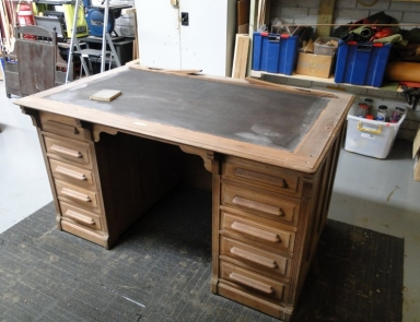 full restoration on rolltop desk