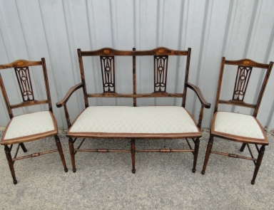 Edwardian trio after full restoration and upholstrey
