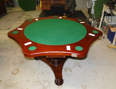 Poker table from circa 1890s fully restored 001