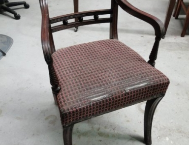 Regency Dining Chair Before Restoration