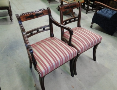 Regency Dining Chairs After Restoration
